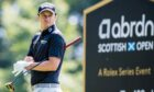 David Law in action at the Abrdn Scottish Open at Renaissance Golf Club.