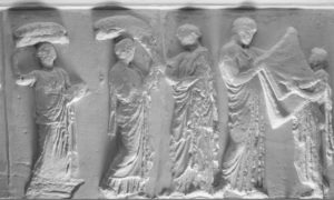 A detail from the Parthenon Frieze at Aberdeen Art Gallery.
