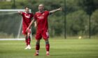 Aberdeen's Scott Brown in action in the 0-0 friendly draw with St Johnstone. Supplied by Newsline Media for Aberdeen FC