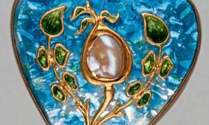 Heart shape pendant by James Cromar Watt