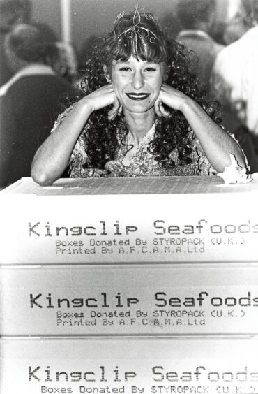 1993 - 'Neptune's wife' – better known as Marion McCloy –  plays her part at the fish festival