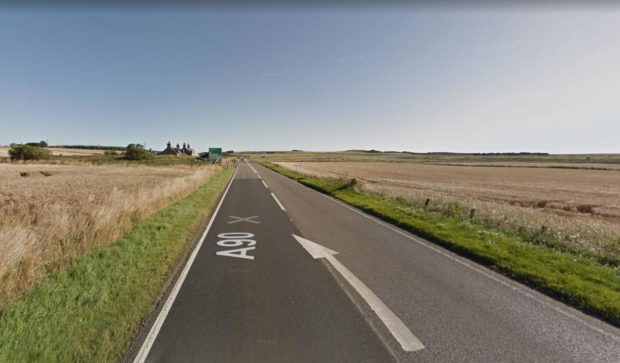 Police was called to a serious crash on A90 near Boddam.