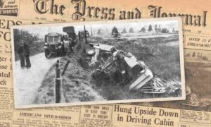 A picture of the accident which happened in 1950.