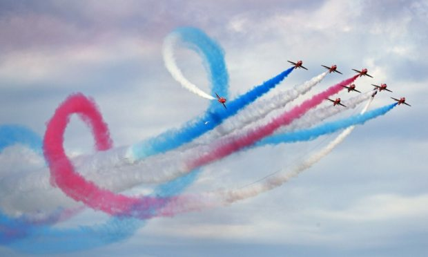 The Red Arrows will be performing at Peterhead and Lossiemouth. Photo: Owen Humphreys/PA Wire