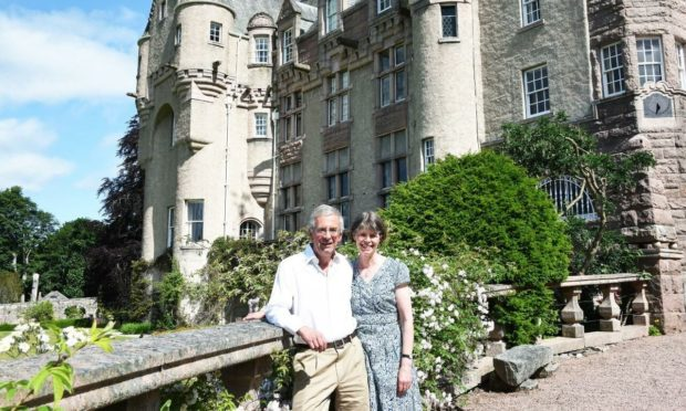 Andrew and Nicola Bradford at Kincardine Castle and Estate. Supplied by Deeside Photo.