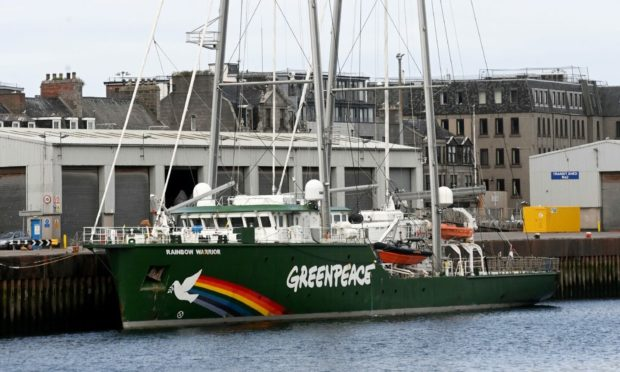 The Greenpeace ship Rainbow Warrior will arrive at Aberdeen harbour on Saturday, July 24.