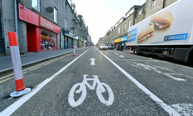 Work to remove the Spaces For People measures in George Street, Aberdeen, will begin on August 9.