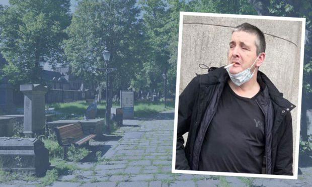 Ruaraidh Hutchison pleaded guilty to an assault in St Nicholas graveyard