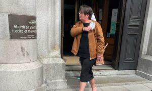 Donna McGregor leaving court.