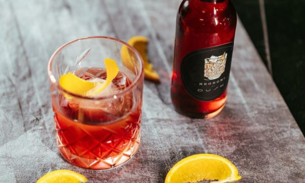 A negroni, available at Dusk on Langstane Place.