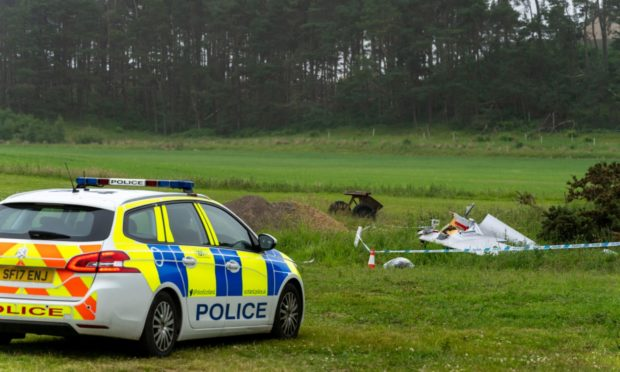 A man has been taken to hospital following the crash with occurred o the grounds of the Highland Gliding Club.