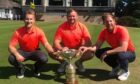 Greg Ingram, right, with the Journal Cup alongside Scott Main, left, and Greig Kennedy.