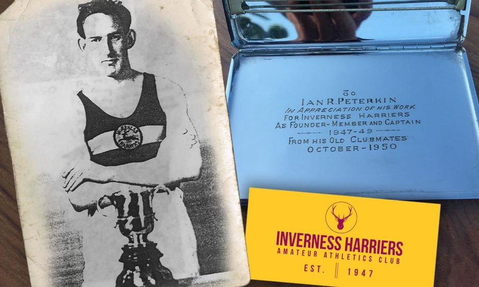 A cigarette case has been found belonging to Ian R Peterkin, founder-member and captain of Inverness Harriers.