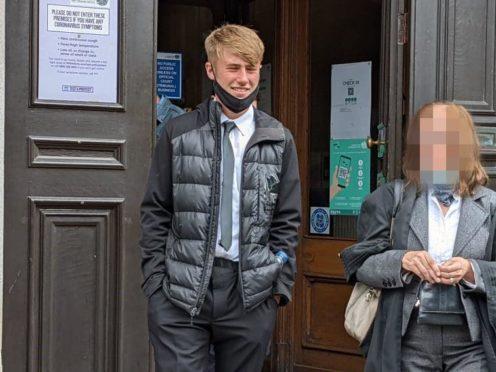 Jack Allen leaving court.