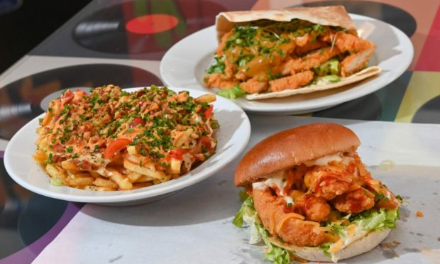 Three of the street food dishes available at Richmond Street Deli.