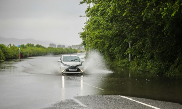 Yellow rain warning issued for north-east