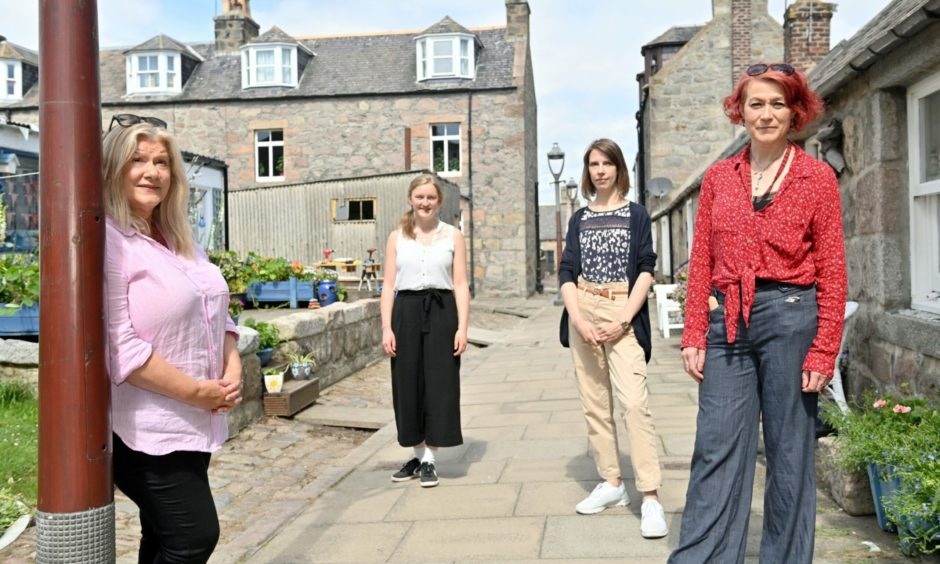 The Safe Harbour, Open Sea team  helping to shape the future of Fittie through arts. Pictured, from left,  Pauline Brown, Marie Driver, Victoria Fifield and Lesley Anne Rose.
