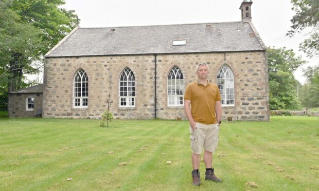 David Taylor was blown away when he first stepped inside Kennethmont Church House.