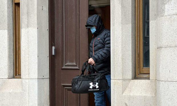 Keith Pirie leaving Aberdeen Sheriff Court