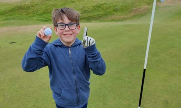 Luke Duncan, who recorded a hole-in-one at Cruden Bay.
