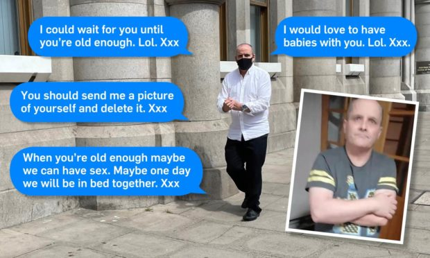 Michael Cuthill sent messages to who he thought was a 13-year-old girl..