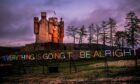 The art installation at Braemar Castle by this month's photo competition winner Bryan Evans.