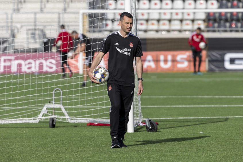 Aberdeen manager Stephen Glass is leading the Dons in European competition for the first time.