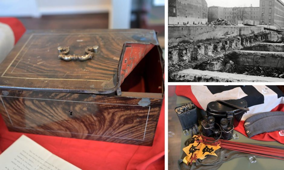 Hitler's personal despatch box and other Nazi memorabilia are on display in the Highlanders' Museum