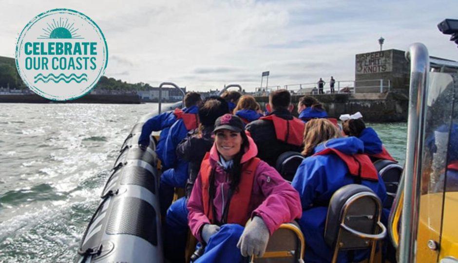 Gayle, front left, enjoys the trip.