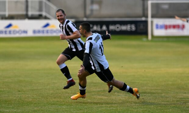 Scott Barbour netted twice for Highland League leaders Fraserburgh.