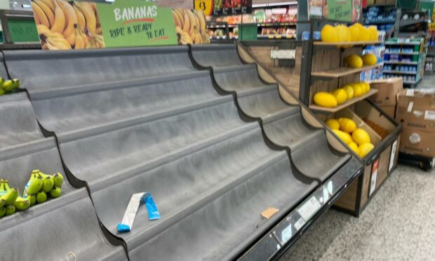 Shoppers report missing items amid workers having to self isolate.