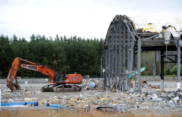 The arena at the AECC has already been demolished.