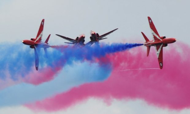 The Red Arrows display at RAF Lossiemouth has been cancelled. Photo: Gordon Lennox/DCT Media
