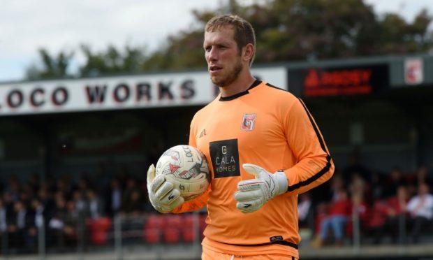 Inverurie Locos goalkeeper Andy Reid