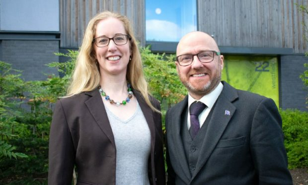 Lorna Slater and Patrick Harvie, co-leaders of the Scottish Greens