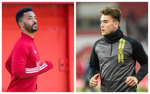 Cove Rangers new signings Shay Logan and Jevan Anderson