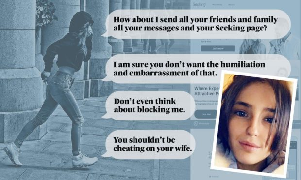 Some of the threatening messages Tiffany Anderson sent her victims on the sugar daddy websites