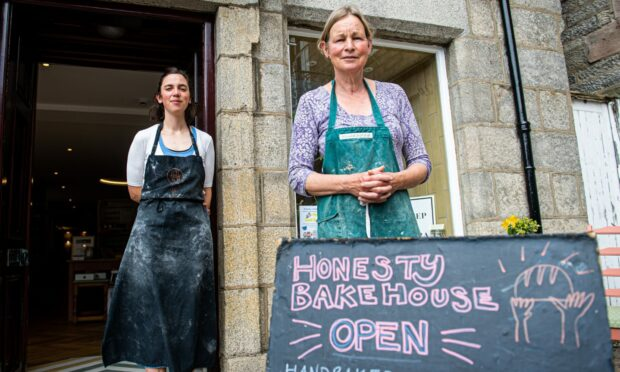 Kate Taylor-Beale (left) and Christine Sell run Honesty Bakehouse, Huntly.