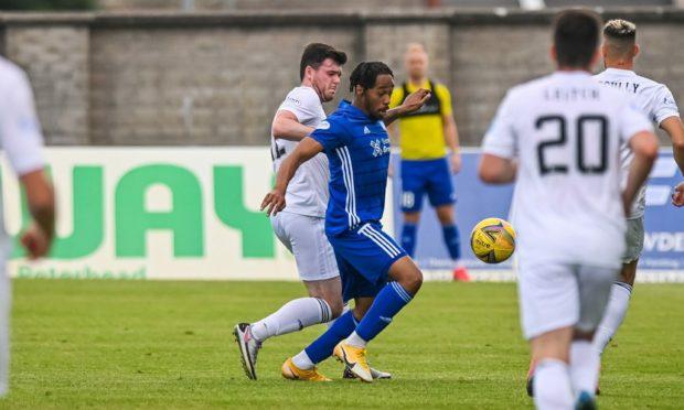 Peterhead forward Niah Payne in action against Cove Rangers.