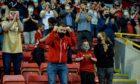 Fans returned to Pittodrie against BK Hacken.