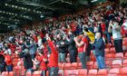 Fans were inside Pittodrie for the first time since last September.