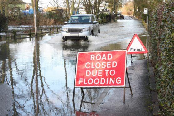 Heavy rain caused many roads across the region to flood today