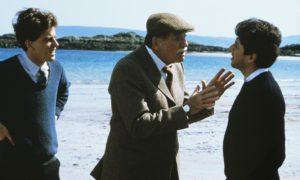 Burt Lancaster, centre, starred in Local Hero.