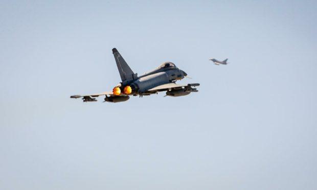 RAF Lossiemouth jets in Romania.