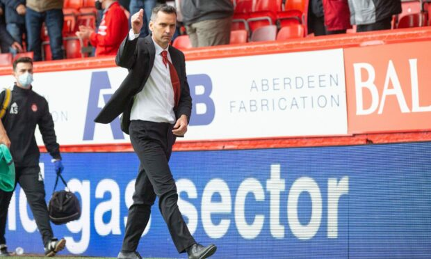 Stephen Glass after the victory against Dundee United on Sunday.