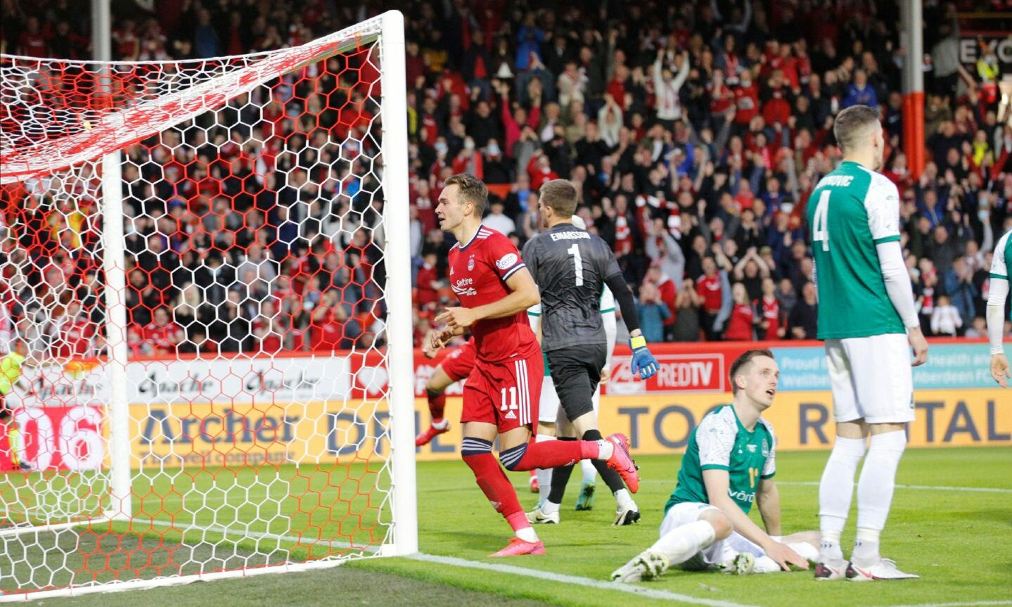 Ryan Hedges was on the mark twice for Aberdeen.
