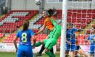 Niamh Farrelly of Glasgow City in Champions League qualifying action.