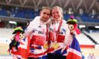 Neil and Lora Fachie with their Paralympic gold medals