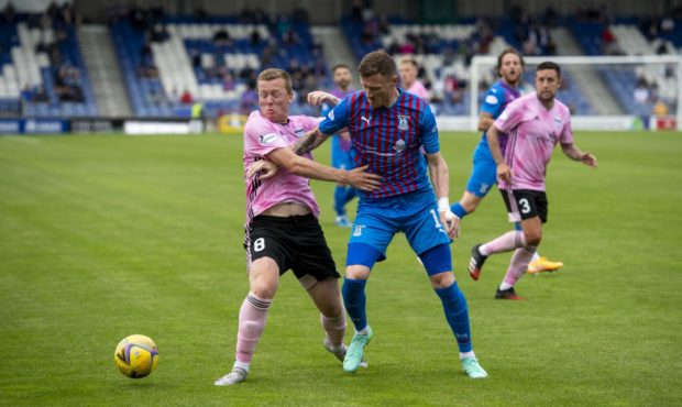 Scott Brown in action against Caley Thistle.