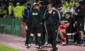 Celtic manager Ange Postecoglou at Tynecastle.